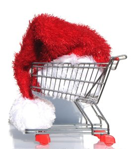 santa goes shopping