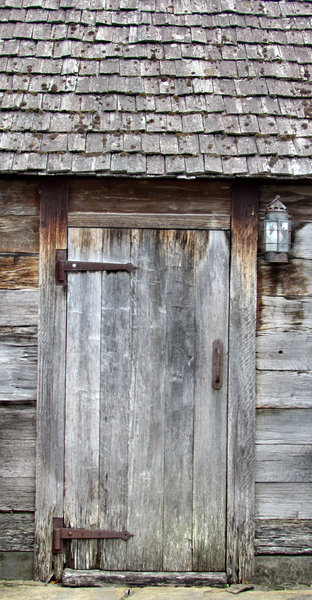wooden shack door