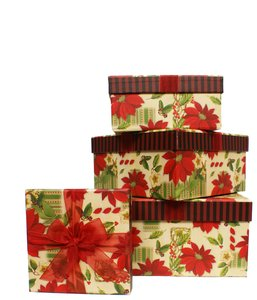 gift box: 4 boxes for Christmas presents