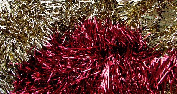 tinsel tints1: Christmas tinsel decorations