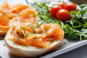Food - Salmon bagel