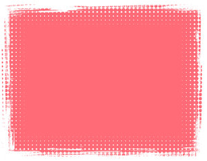 Dot Banner 8: A salmon coloured banner or background with a grungy dotted border.