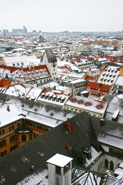 German city roofs