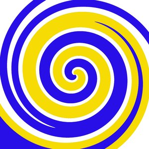 blue yellow white circle - photo #39