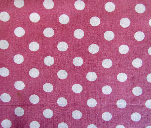 polka dots & pink: fabrics and textiles with variety of textures and designs
