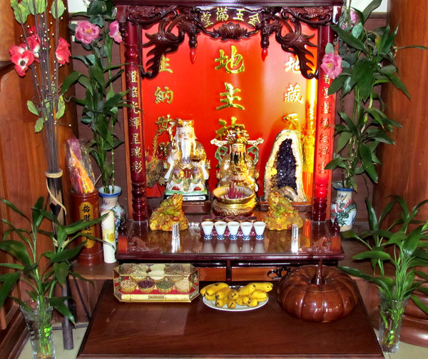 business altar & offerings