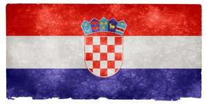 Croatia Grunge Flag
