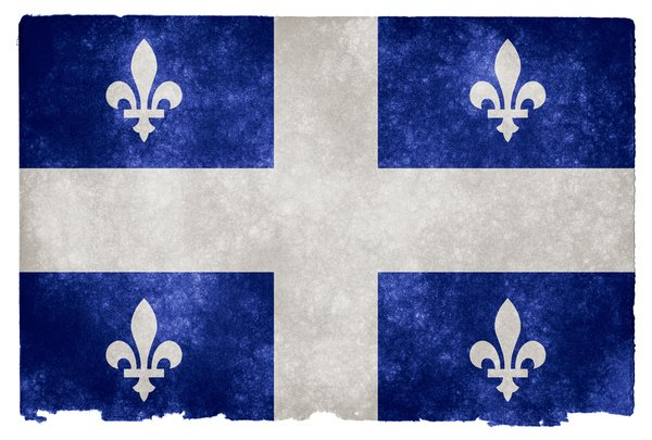 Quebec Grunge Flag: Grunge textured flag of Quebec on vintage paper. You can find hundreds of grunge flags on my website www.freestock.ca in the Flags & Maps category, I'm just posting a sample here because I do not want to spam rgbstock ;-p