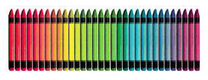 Rough Pastels: A set of crayons with a rough pastel texture.