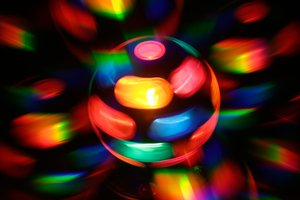 Spinning Disco Lamp Abstract