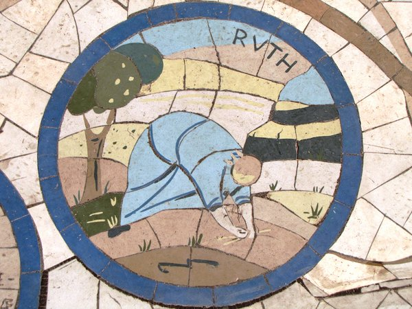 Bible image pavement: Ruth