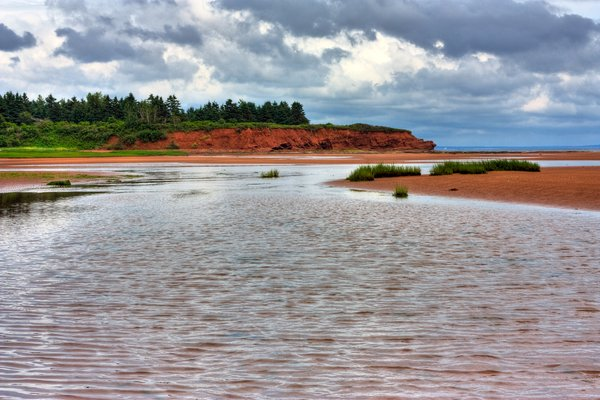 PEI Beach Scenery - HDR: Wide-angle beach scenery from Prince Edward Island, Canada. HDR composite from multiple exposures.