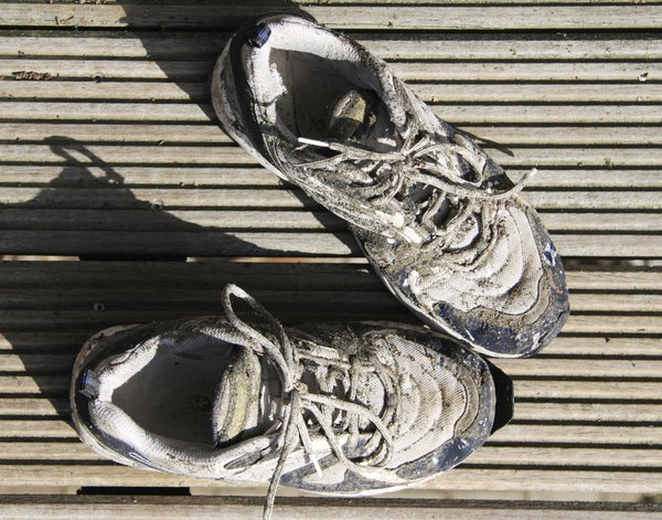 Sport Shoes: Back from running - Dirty sport shoes