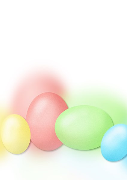 Easter pastel eggs: Easter eggs illustration