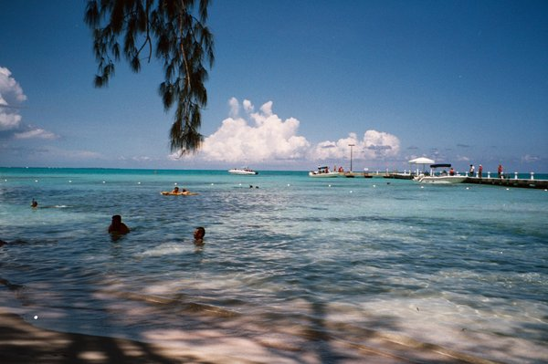 Rum Point: Rum Point Beach, Grand Cayman BWI swimmers enjoying the warm waters of the tropics.