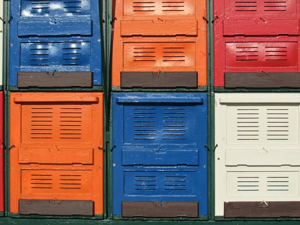 colourful beehives / bee apart