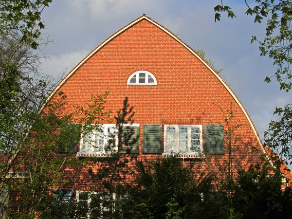 red brick gable