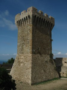 medieval tower 2: Medieval tower near the ancient necropolis of Populonia.