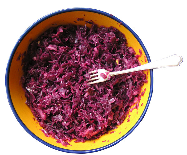 Red coleslaw: A coleslaw made of red cabbage.