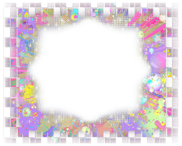 Fantasy Border or Frame 2: A fabulous layered border in a riot of colours. Suitable for a flyer, frame, border, greeting, paper, and much more. A great background texture.