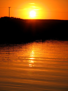 Sunset Lake: A sunset shot from our campsite at Diefenbaker Lake, Saskatchewan.