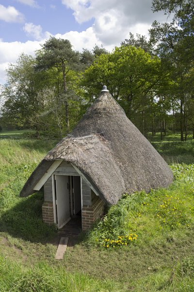 Traditional ice-house: A restored traditional ice-house at Greys Court, Oxfordshire, England. Photography of the exterior of buildings on this National Trust estate is freely permitted.