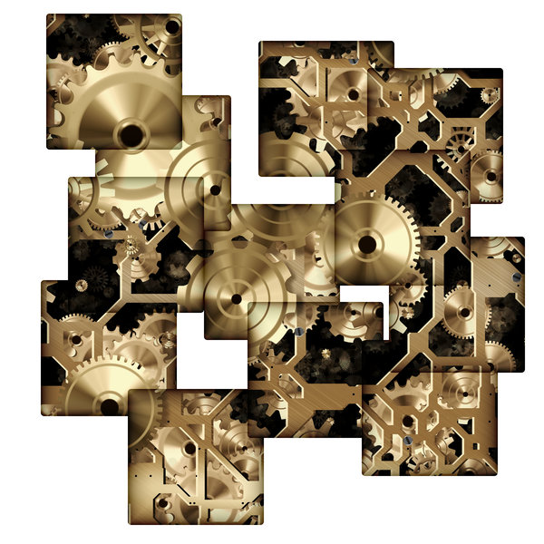 Clockwork 9: A collage of wheels and gears in bronze. Great symbolism or a fabulous textured background. Perhaps you would prefer this: http://www.rgbstock.com/photo/nvAzJ34/Clockwork+2