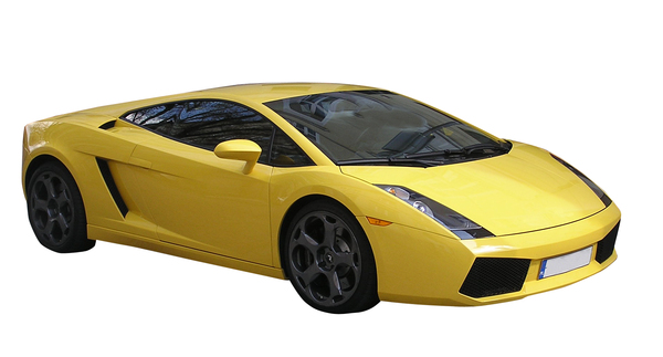 Sport car: A yellow. one.