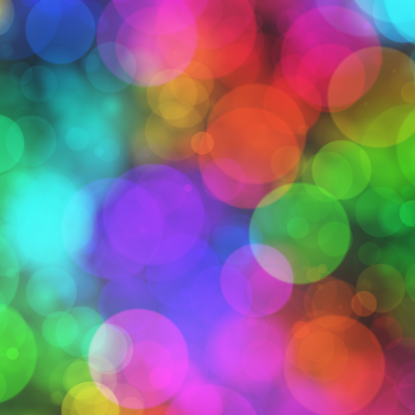 Bokeh or Blurred Lights 13: Bokeh, or blurred background lights in pink, red, yellow, purple and green. Suitable for a background, Christmas greetings, holiday greetings, texture, or fill.