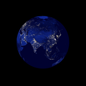 Earth Night Series: An abstract picture of the earth during the night.