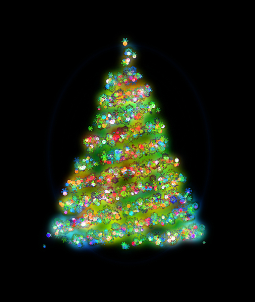 Glowing Christmas Tree 2