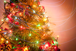 Christmas Tree 9: Photo of christmas tree with light painting