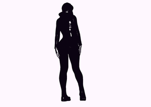 Woman's Silhouette 1: A silhouette of a female standing.