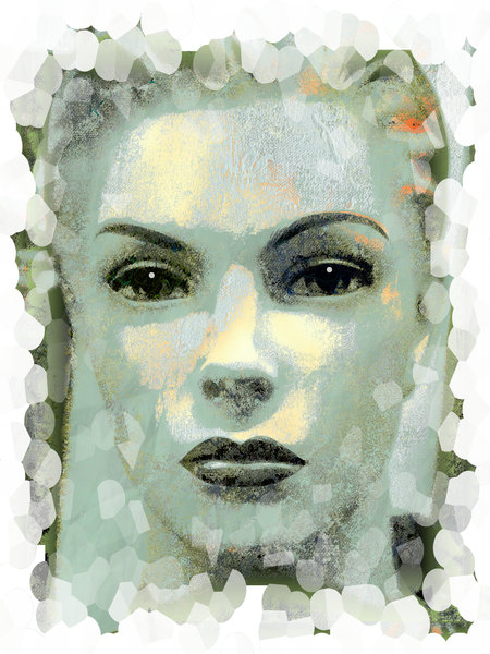Grunge Portrait Woman 8: A grainy, grungy closeup of a woman's face. Made from an image of a mannequin courtesy Dennis Hill. You may prefer: http://www.rgbstock.com/photo/nN715W4/Woman%27s+Face+Poster or