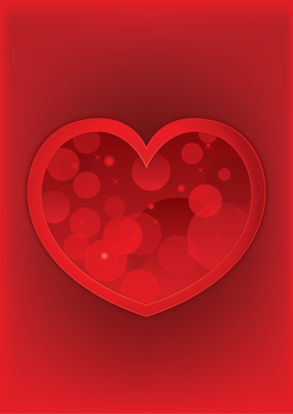 Abstract red heart