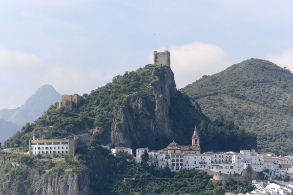 Historical Spanish village: An old fortified village in southern Spain.