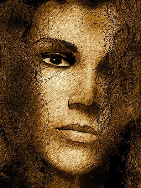 Grunge Portrait Woman 9
