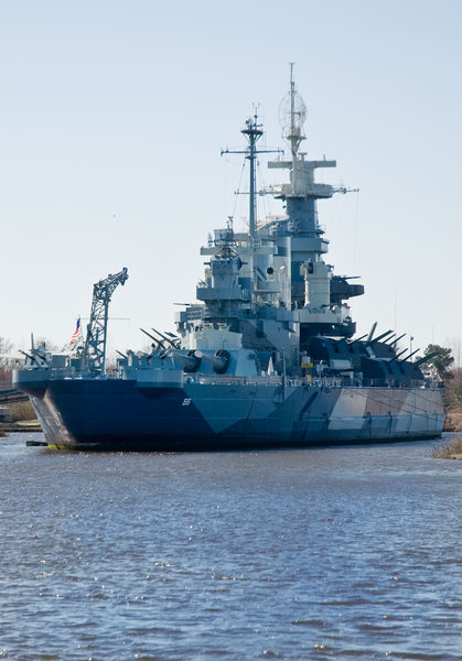 USS North Carolina: Sitting in the water in North Carolina, due for a complete makeover later this year