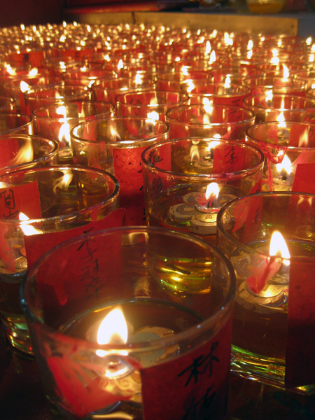 Glass Candles 2: I was biking one night when I saw a birthday festival of a local Goddess in Penang, Malaysia.