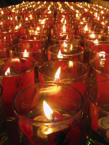 Glass Candles 4