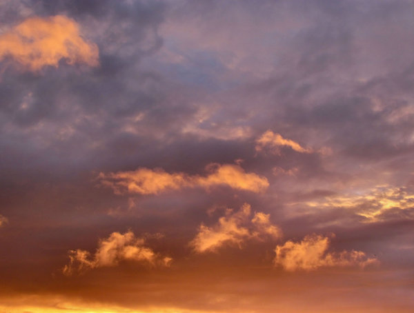 evening sky colour5: Southern sunset  clouds