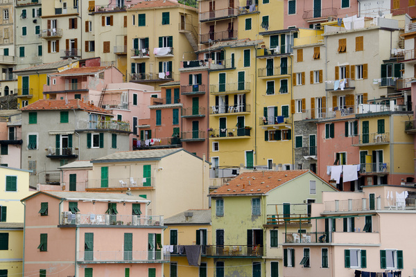 Detail vue of the Cinque terre: Italian starting point for a jigsaw puzzle :-)