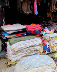local market2b: clothing & haberdashery at local Cambodian general market