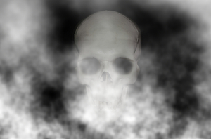 Skull 3: Spooky halloween image made from a public domain image of a skull.