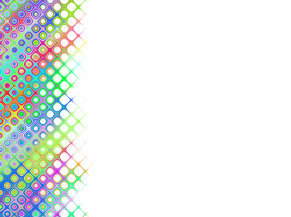 Rainbow Patterned Border 2: A retro bubble patterned border in pastel rainbow colours. Bright and eyecatching.