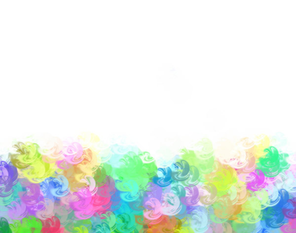 Rainbow Patterned Border 6: A swirly, grungy patterned border in pastel rainbow colours. Bright and eyecatching.