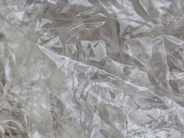 clear plastic: creases and folds in clear plastic sheeting