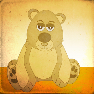 Brown bear grunge