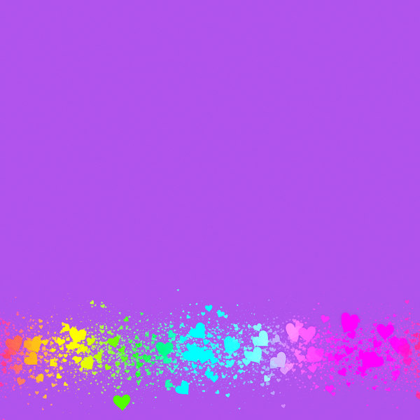 Heart Border 4: A plain purple background with a border of tiny multicoloured hearts. This would make a great card, stationery, background or texture.