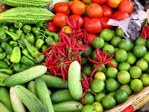 local market33: vegetables at local Cambodian general market